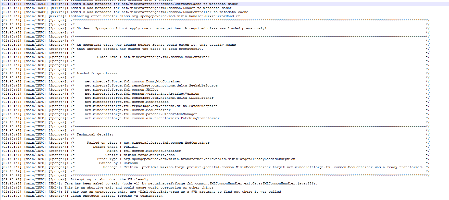 server Crashing on startup Sponge/forge/Ae2 - Support & Bug