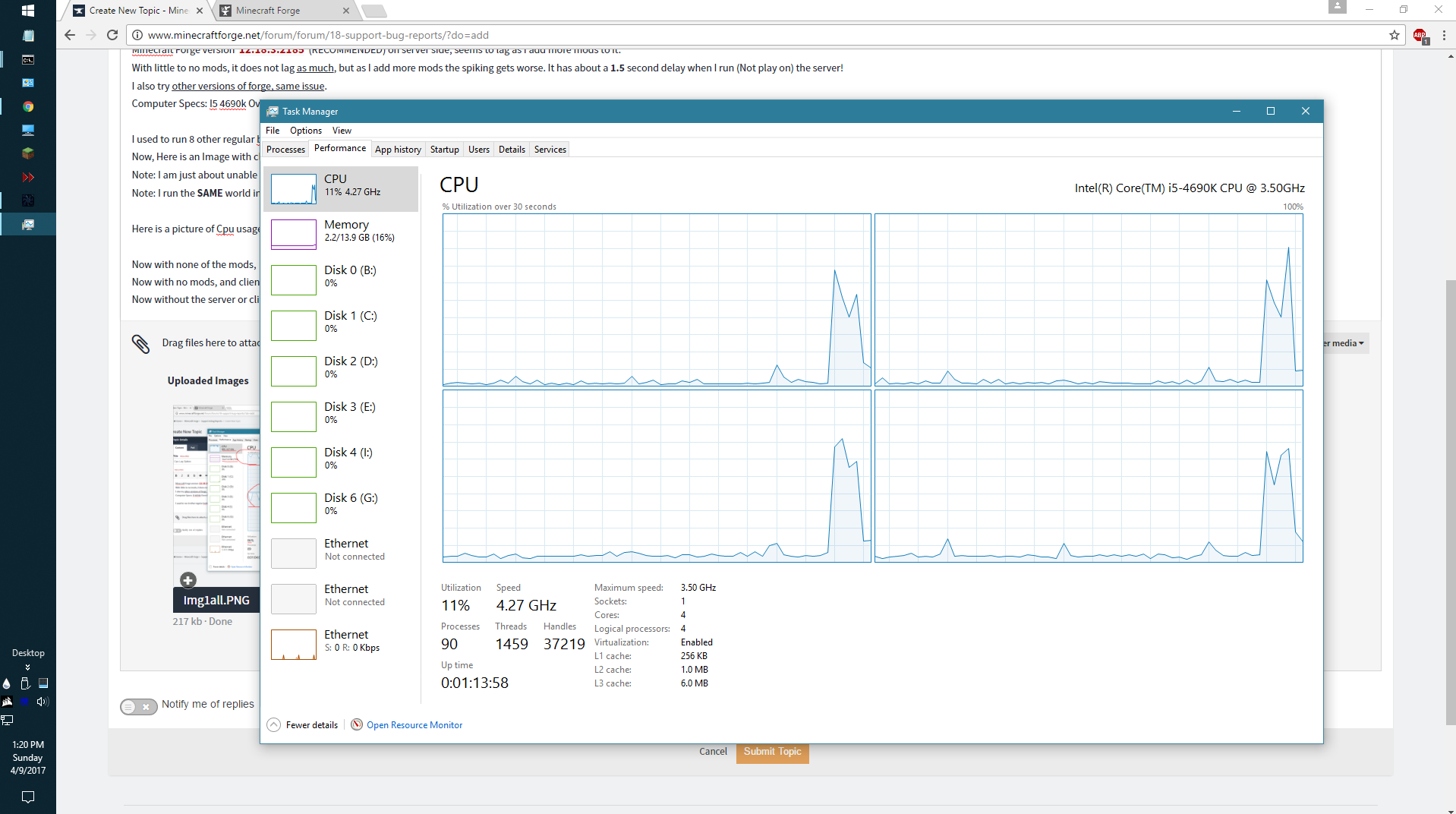 Cpu Lag Spikes - Support & Bug Reports - Minecraft Forge Forums