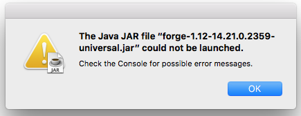 Forge 1 12 JAR File Will Not Open - Support & Bug Reports