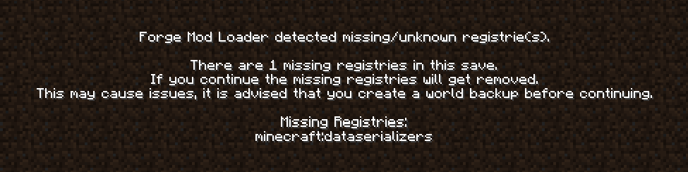 1 12 2, fatally missing registry entries - Support & Bug Reports